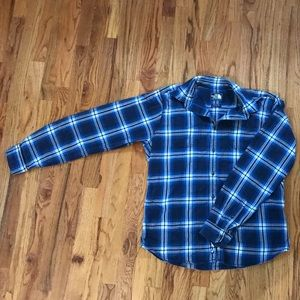 The North Face Blue Flannel
